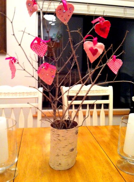 Valentines Ornament Tree Project