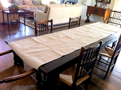 Drop Cloth Table Runner