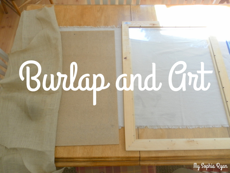 Matte Art with Burlap