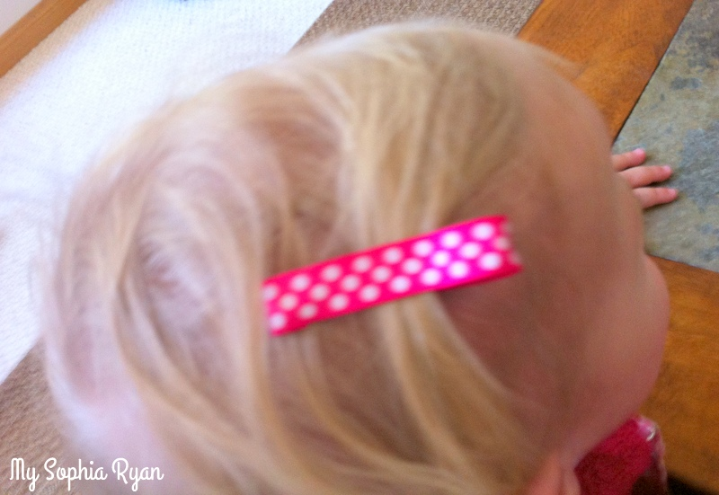Ribbon Covered Hair Clips