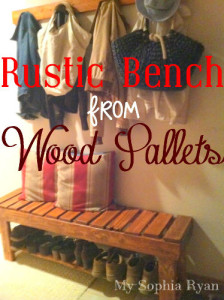 Rustic Bench Made From Wood Pallets