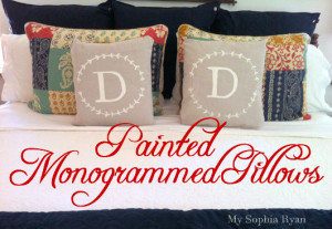 Painted Monogrammed Pillows