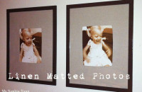 Linen Matted Photos