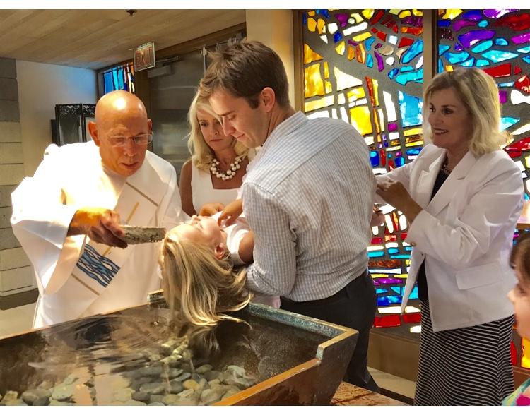 Receiving the Sacrament of Baptism