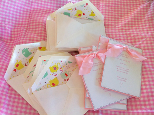 Sophia's First Birthday Invitations