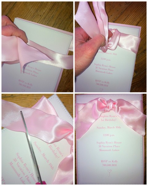 Sophia's First Birthday Invitations
