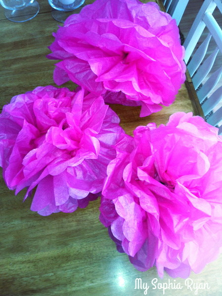 Tissue Paper Flowers for the Party