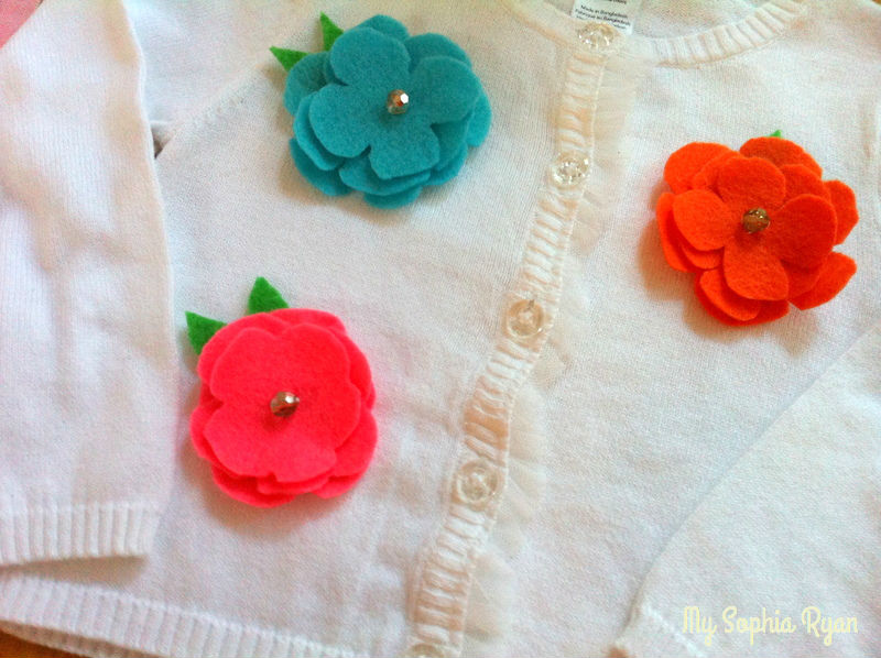 Decorative Felt Flowers