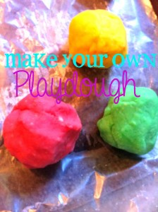 Make Playdough at Home