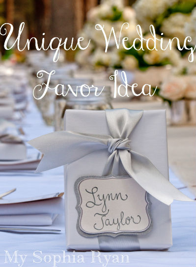 Unique Wedding Favor Idea
