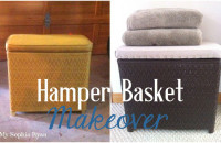 Hamper Basket Makeover
