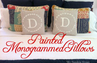 DIY Monogram Pillows Featured on Shutterfly