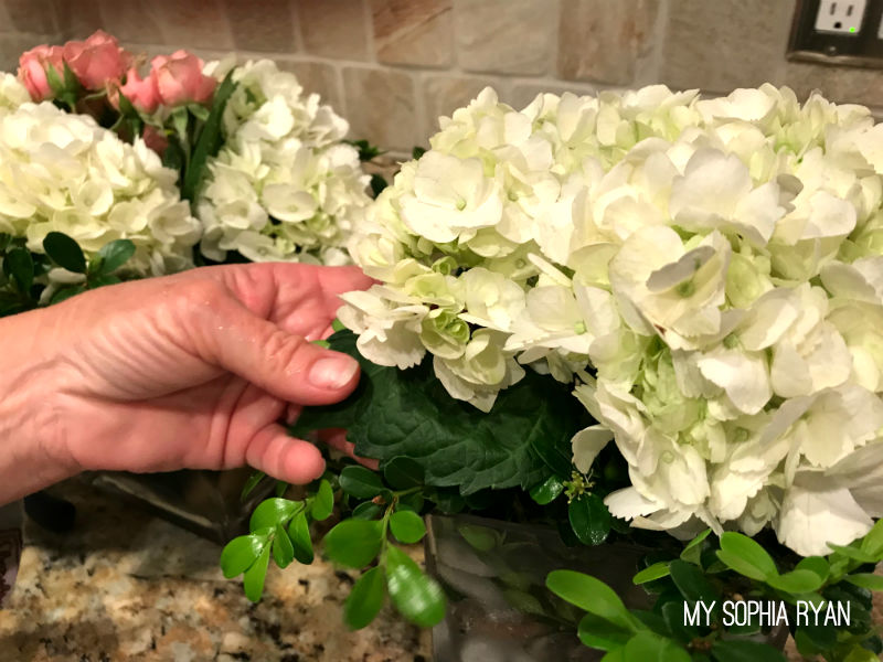 Secret to lasting hydrangea arrangements